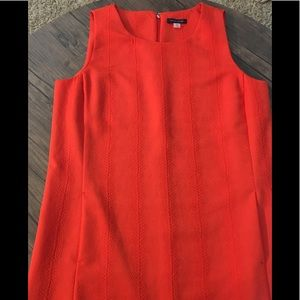 Sleeveless orange sheath dress